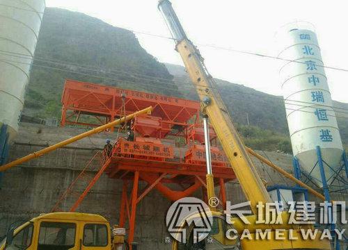 混凝土搅拌站生产线现场安装