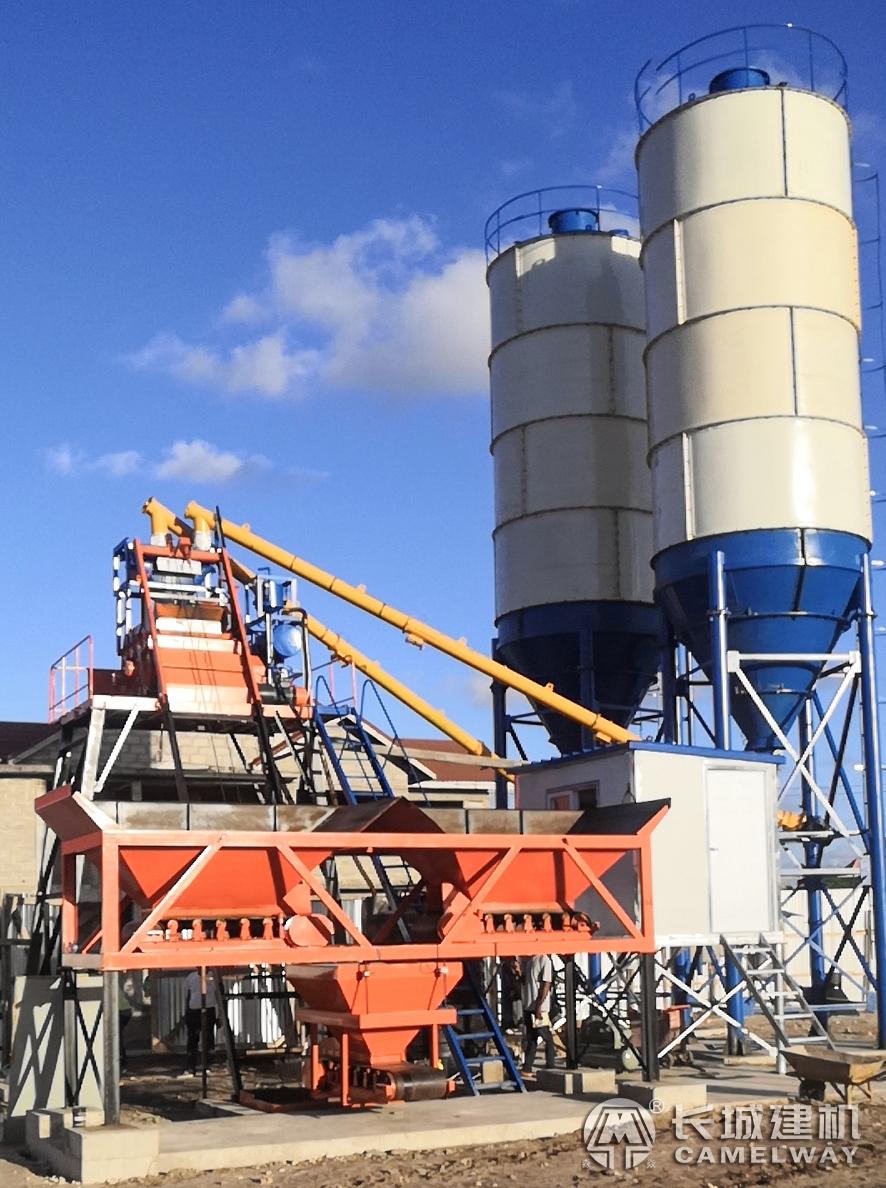 长城hzs25搅拌站坦桑尼亚建成 将服务于当地一房产项目建设