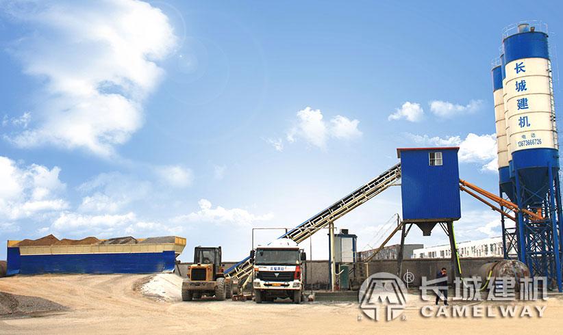 长城建机js1000型强制式搅拌机常用在hzs50或60搅拌站上