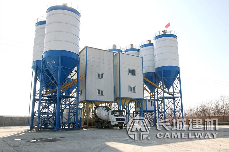 河南郑州长城建机90混凝土生产线整套设备