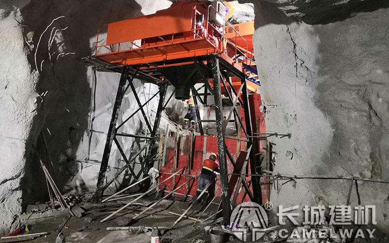hzs35搅拌站井下施工