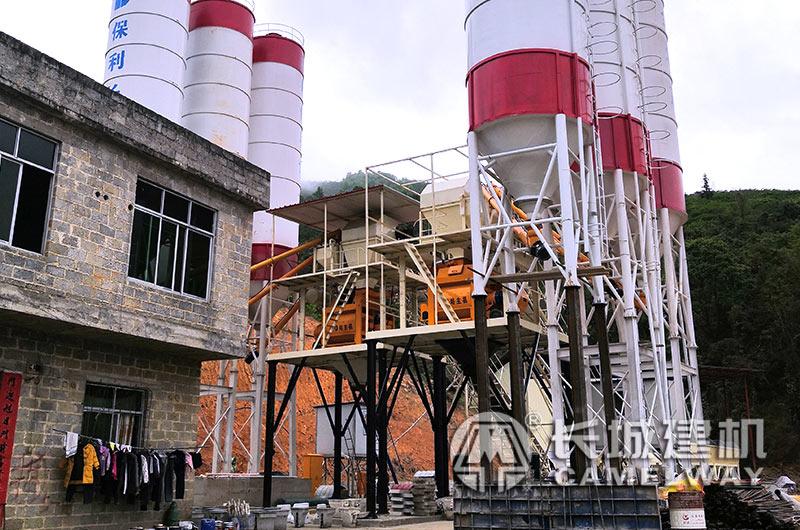 每天6000立方的混凝土搅拌站设备实景