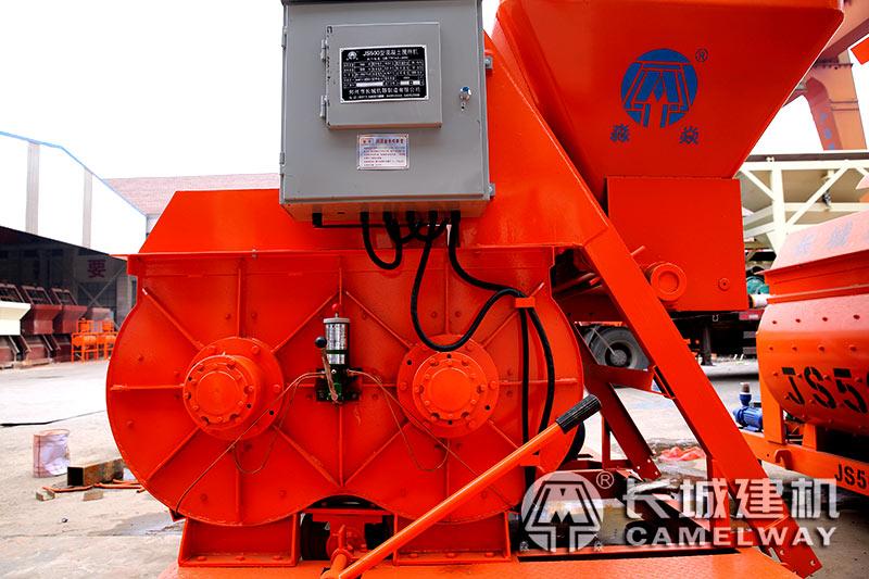 js500搅拌机设备侧面上料